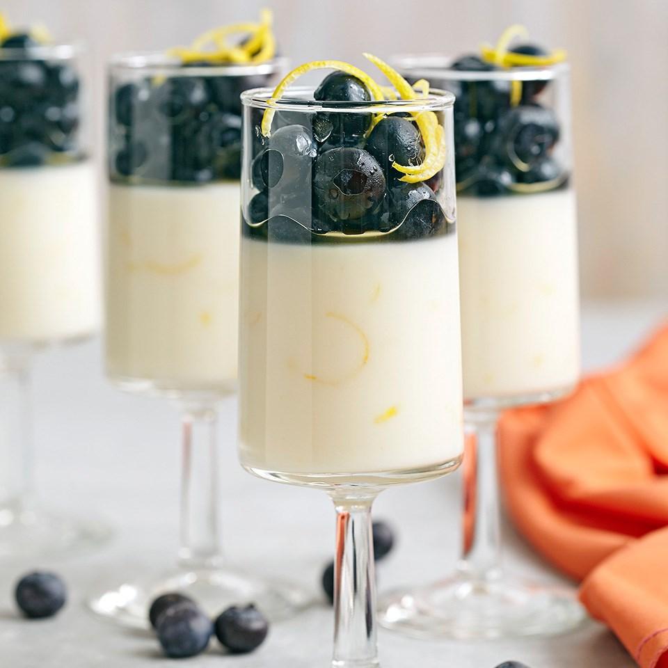 Lemon Honey Parfaits with Blueberries