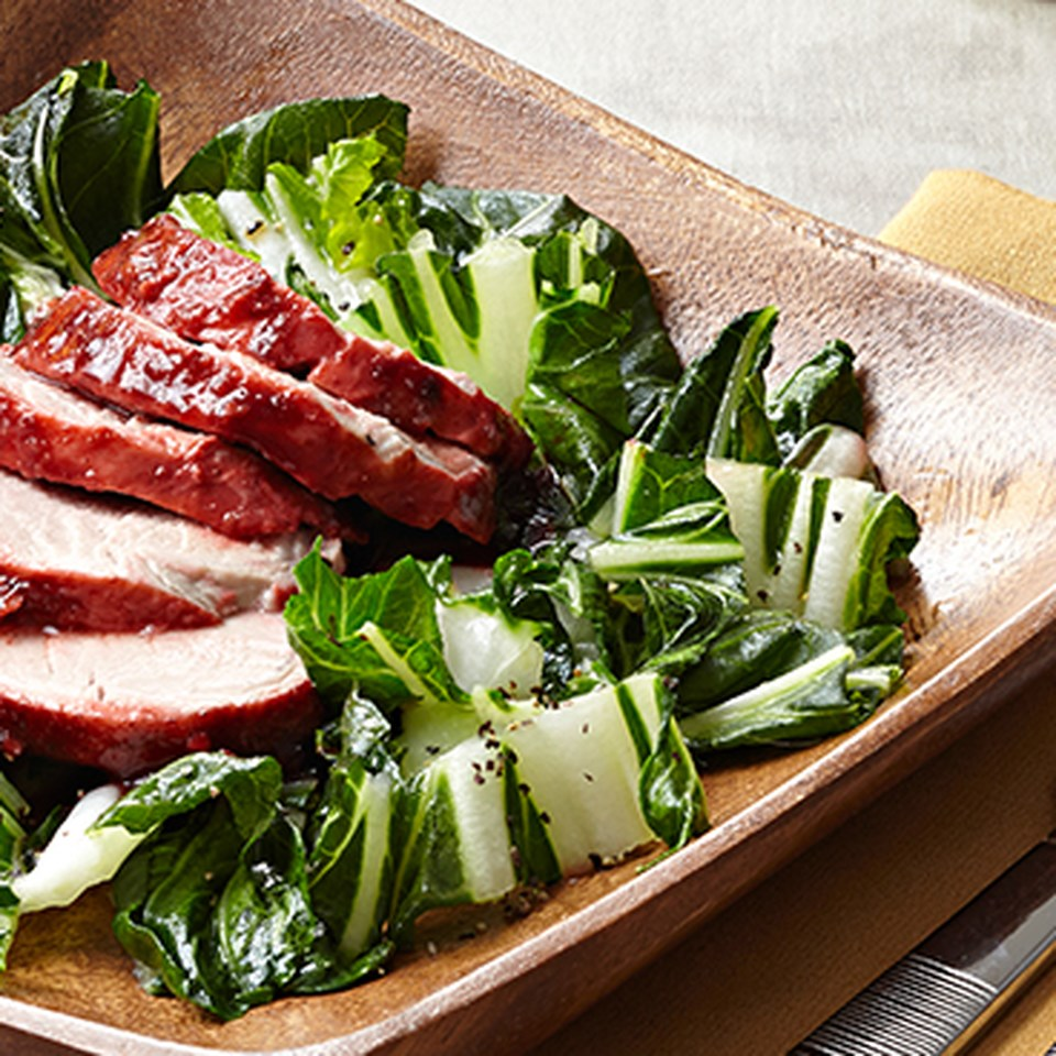 Chinese Barbecue Pork with Bok Choy