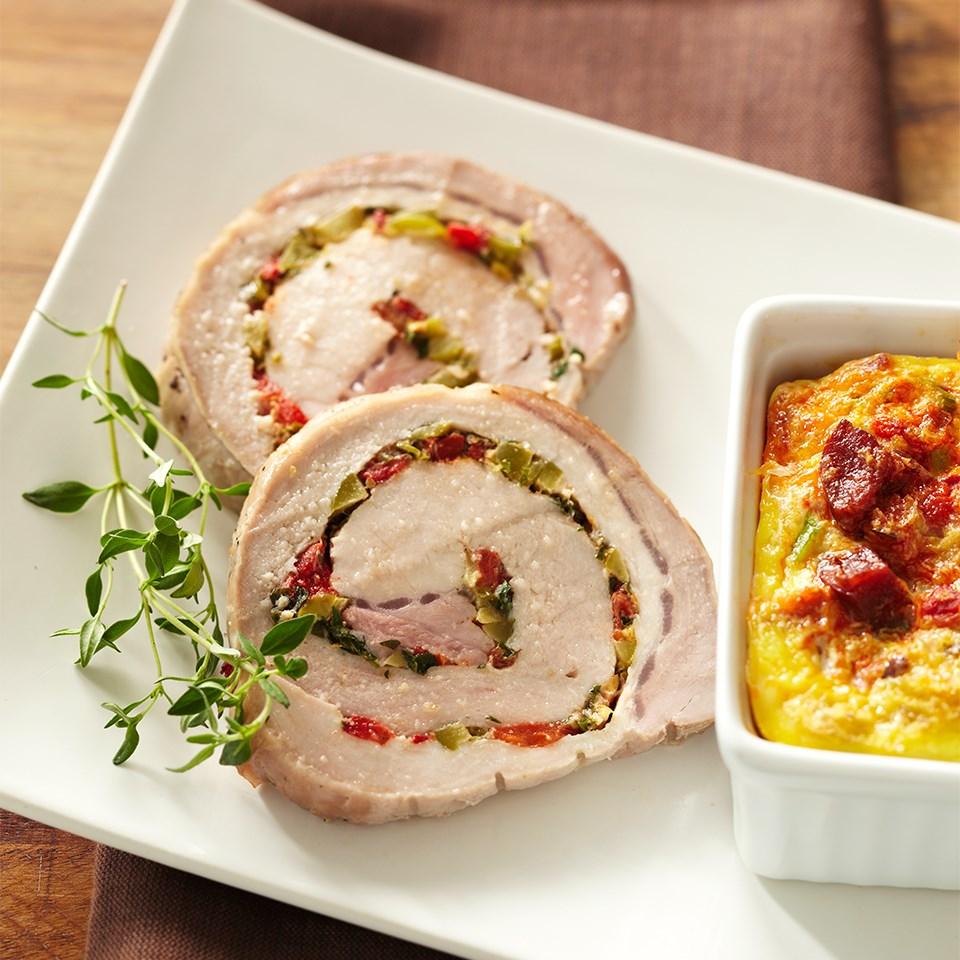 Lemon-Thyme Spiraled Pork Loin