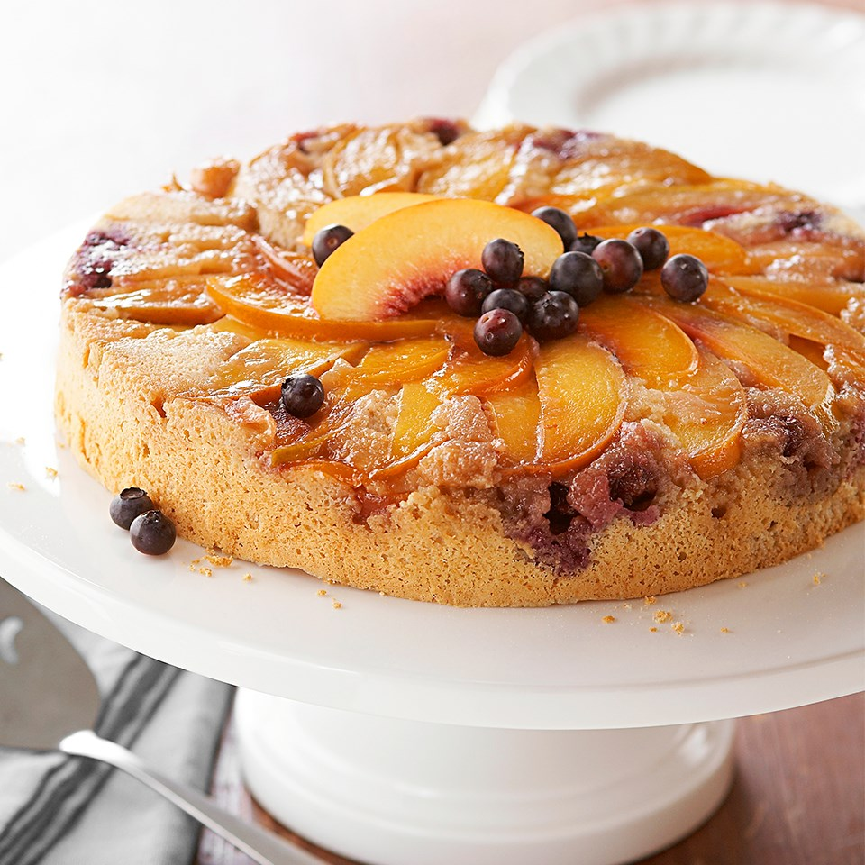 Blueberry-Peach Upside-Down Cake