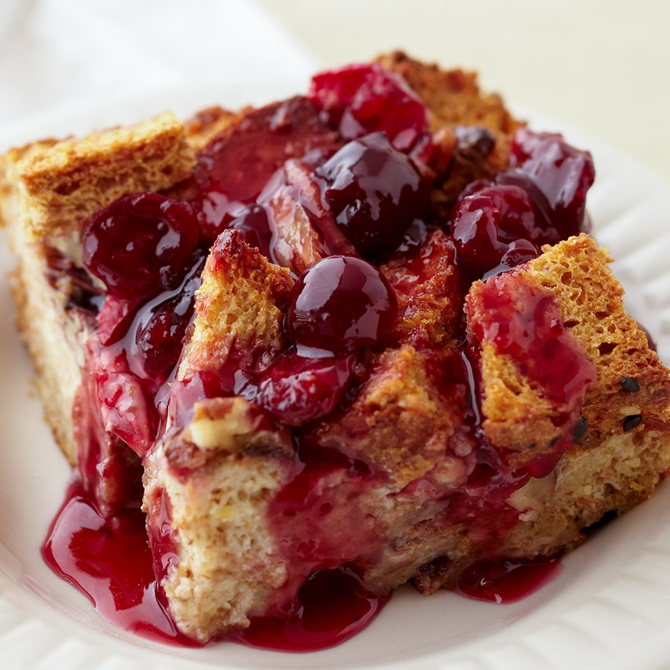 Double Cranberry-Chocolate Bread Pudding