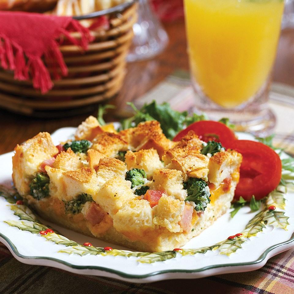 Ham-Broccoli Strata