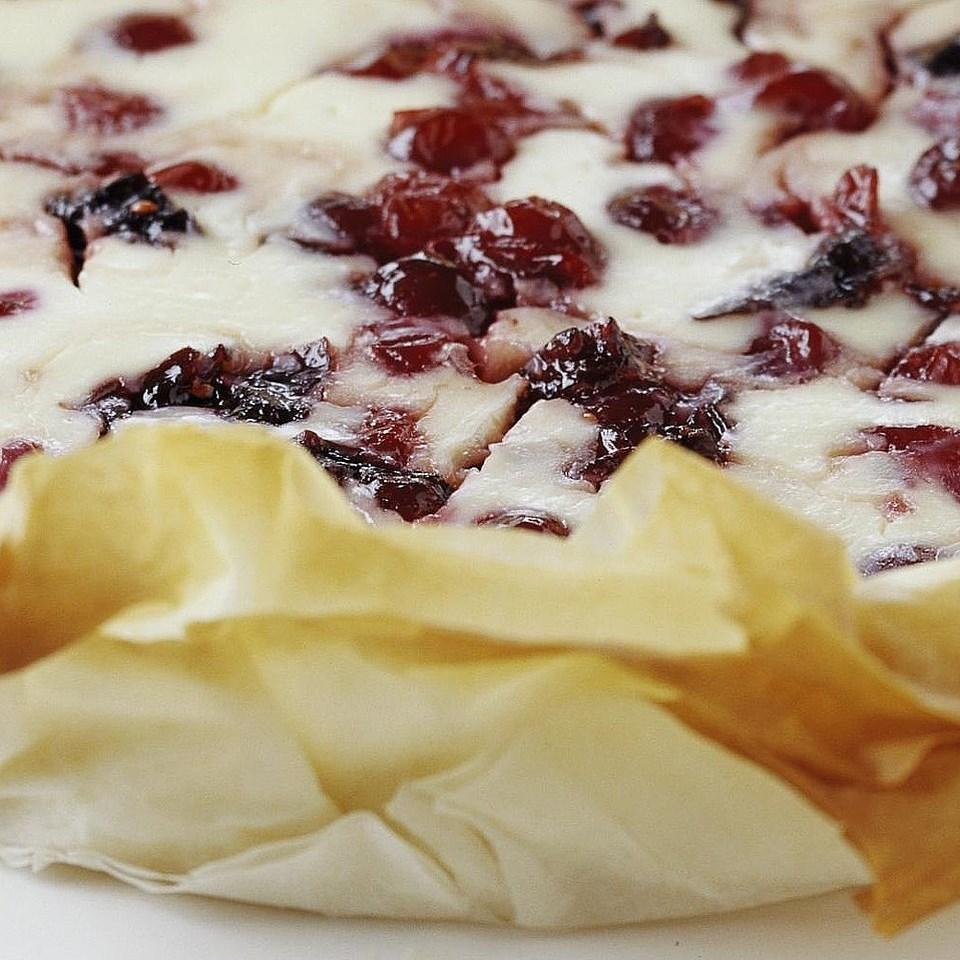Cranberry Phyllo Cheesecake