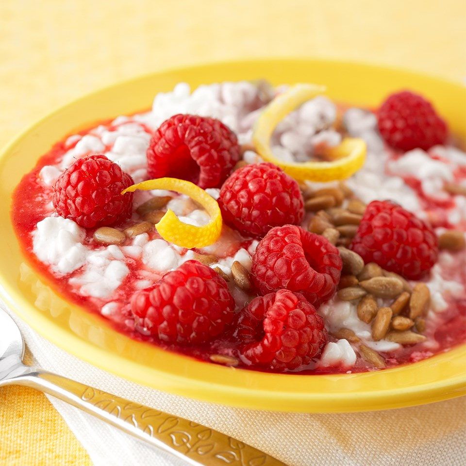 Cottage Cheese with Raspberry Honey