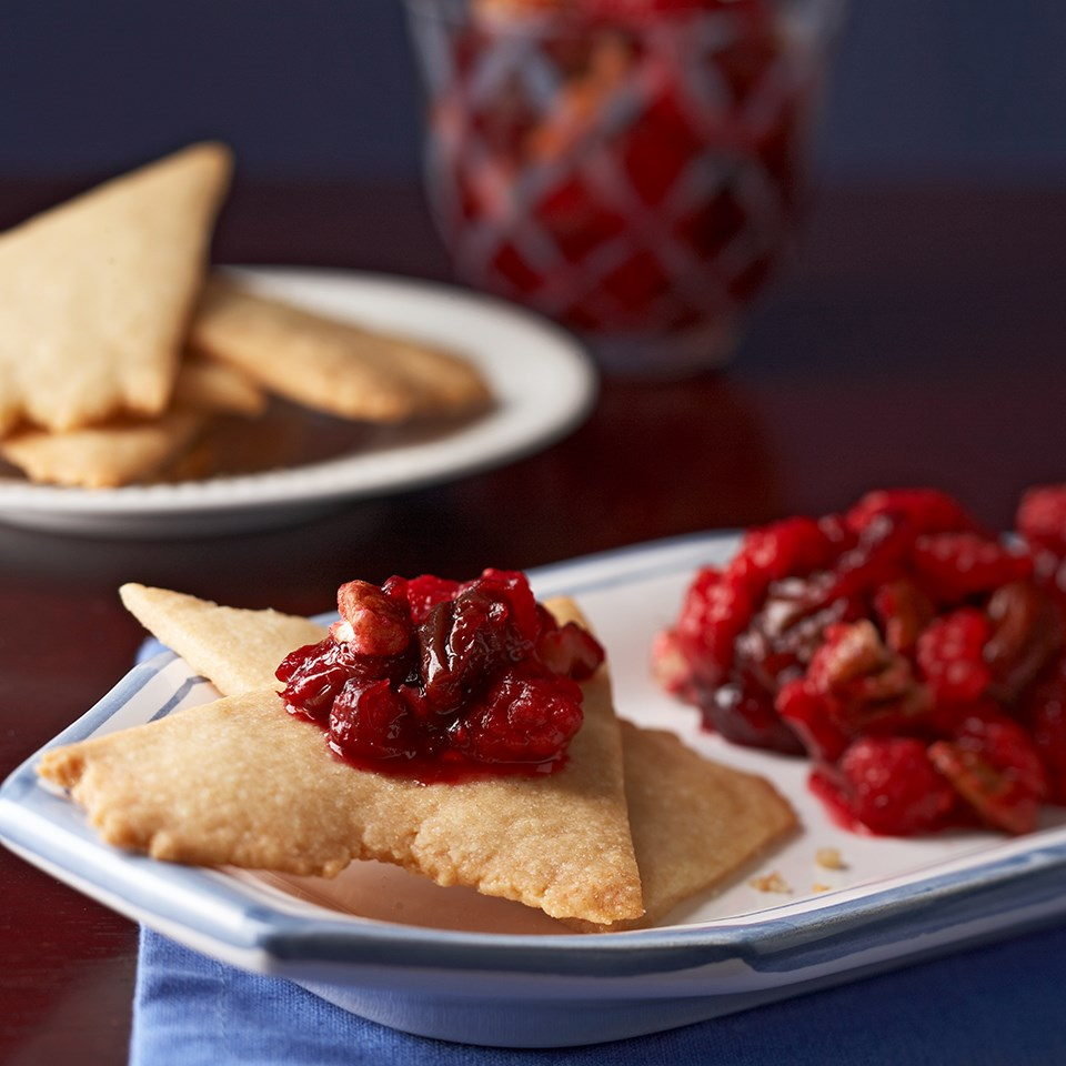 "Shortbread ""Flatbreads"" with Ruby Chutney"