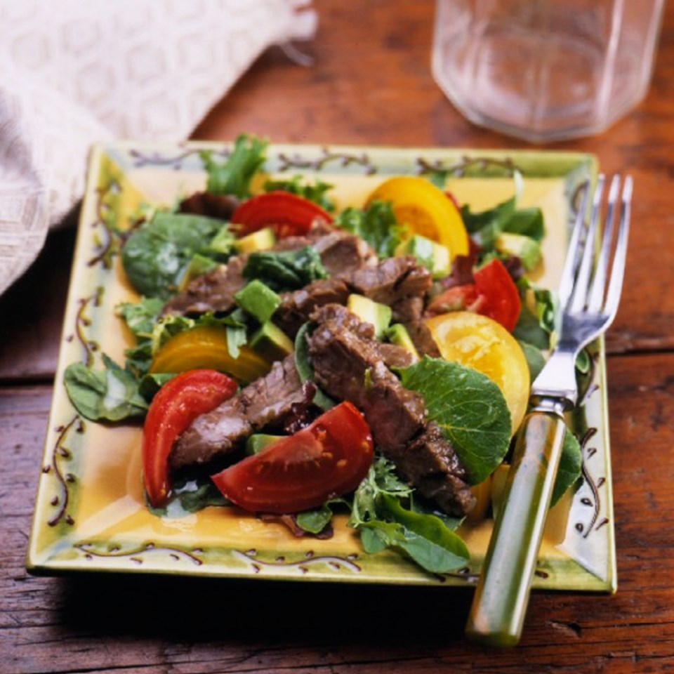 Grilled Beef and Avocado Salad with Cilantro-Lime Vinaigrette