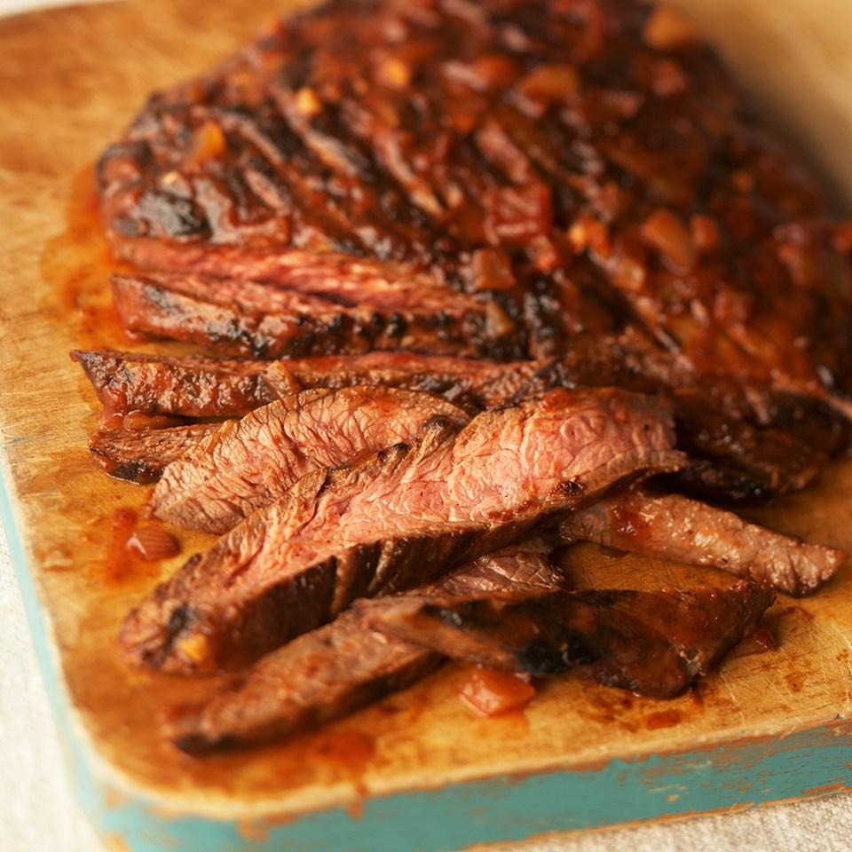 Flank Steak with Chili Sauce
