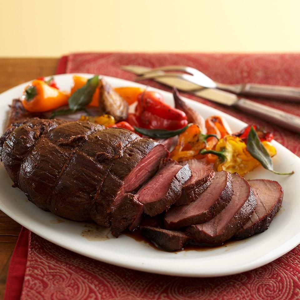 Honey-Ancho-Glazed Beef Tenderloin
