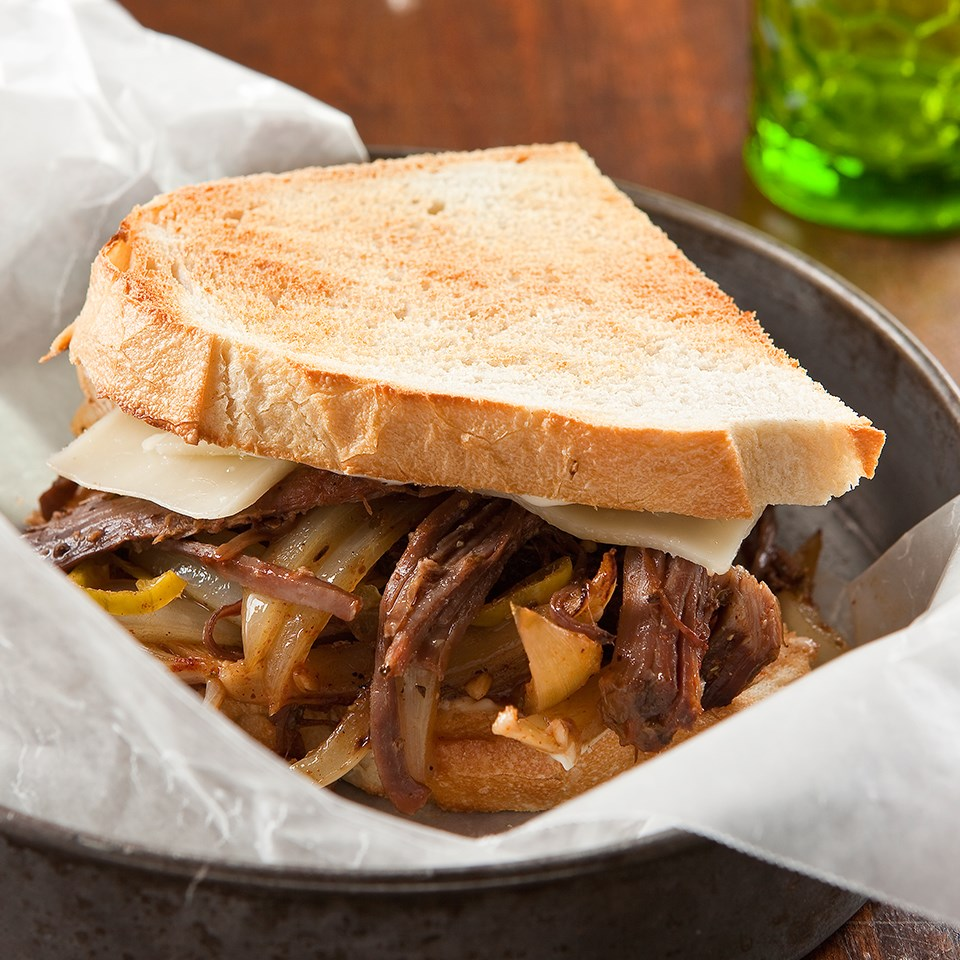 Philly Shredded Beef Sandwiches