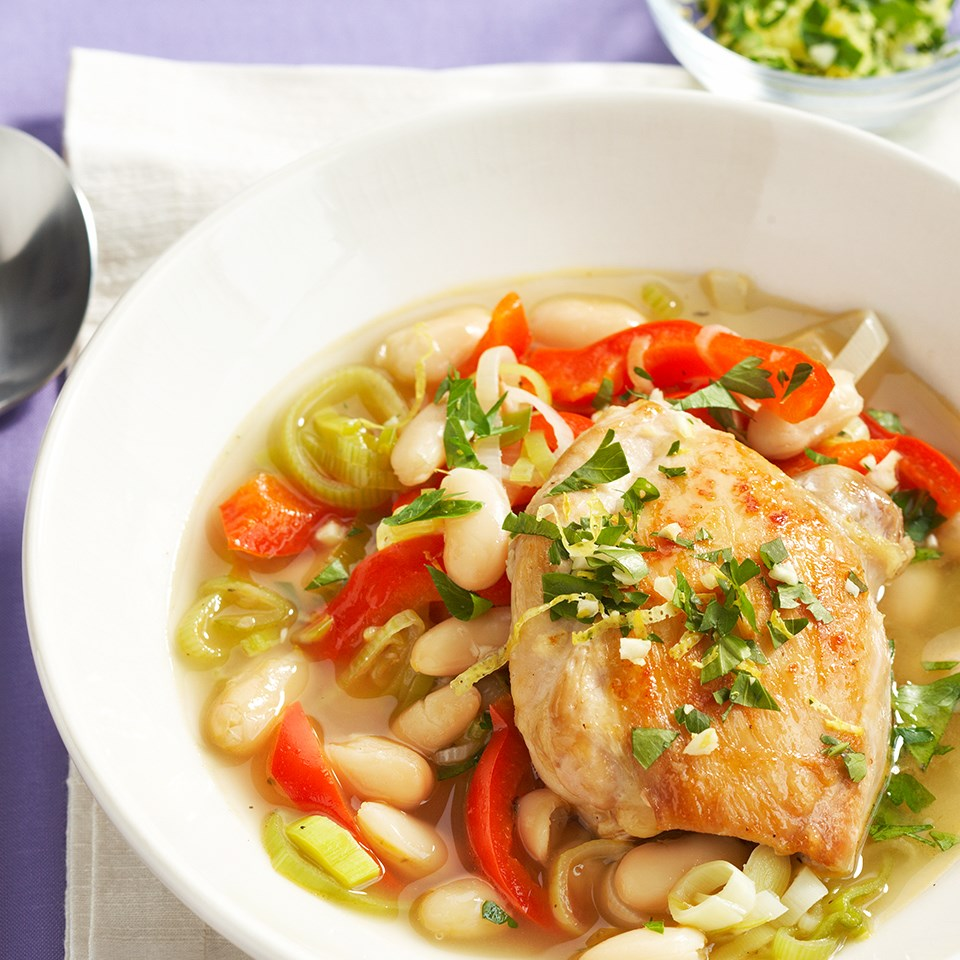 Chicken Cassoulet with Gremolata