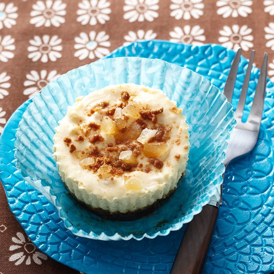 Ginger-Pineapple Mini Cheesecakes