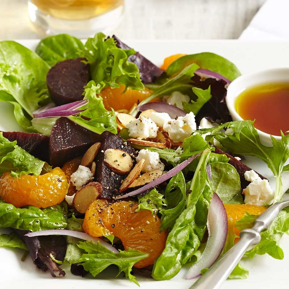Beet, Orange & Red Onion Salads