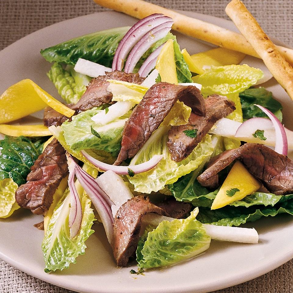 Steak & Mango Salad with Cilantro Dressing