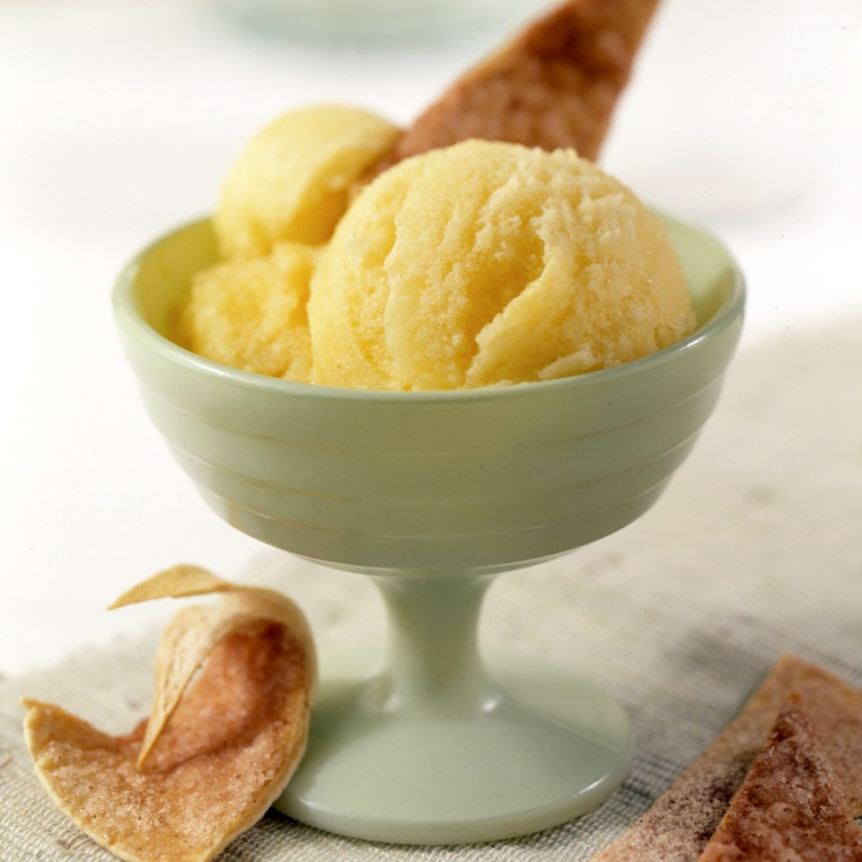 Golden Pineapple Sorbet