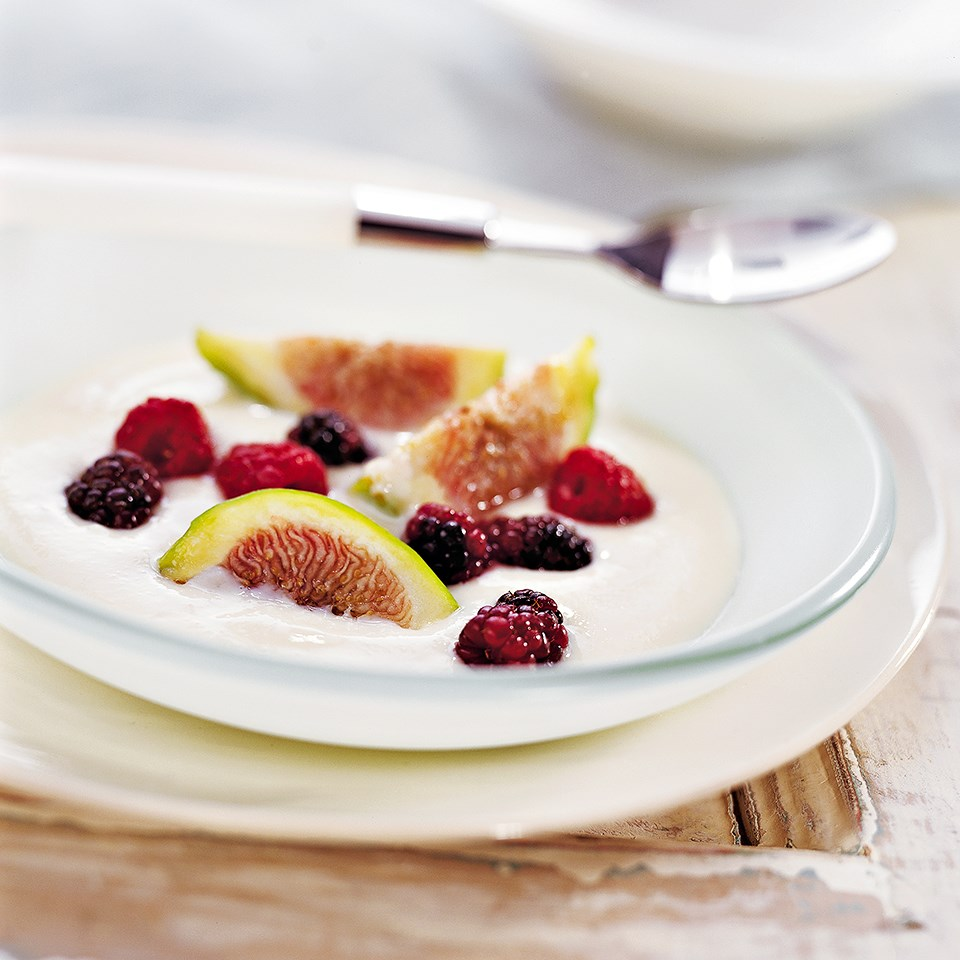 Figs & Berries with Zabaglione