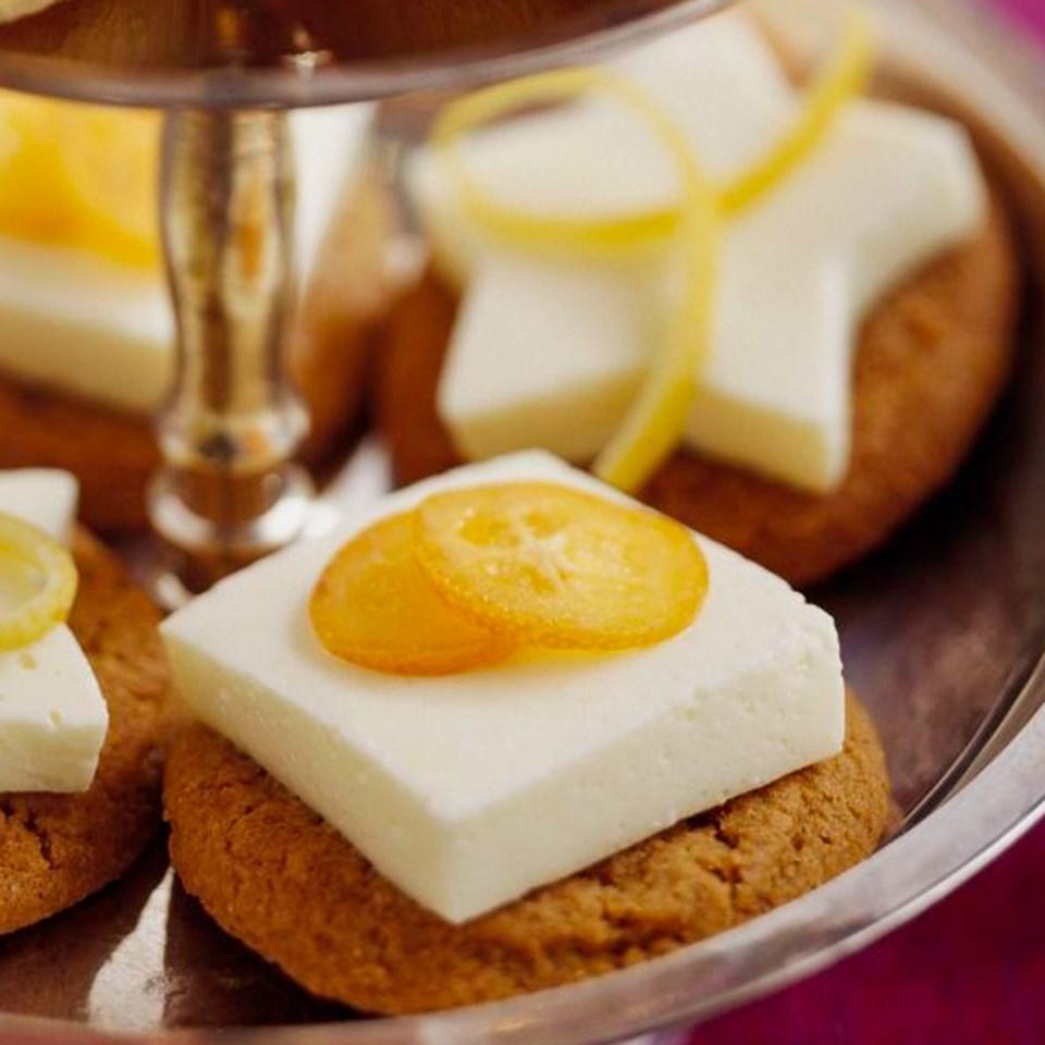 Lemon Mousse-Topped Gingersnaps