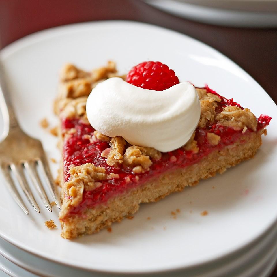Raspberry-Oatmeal Wedges