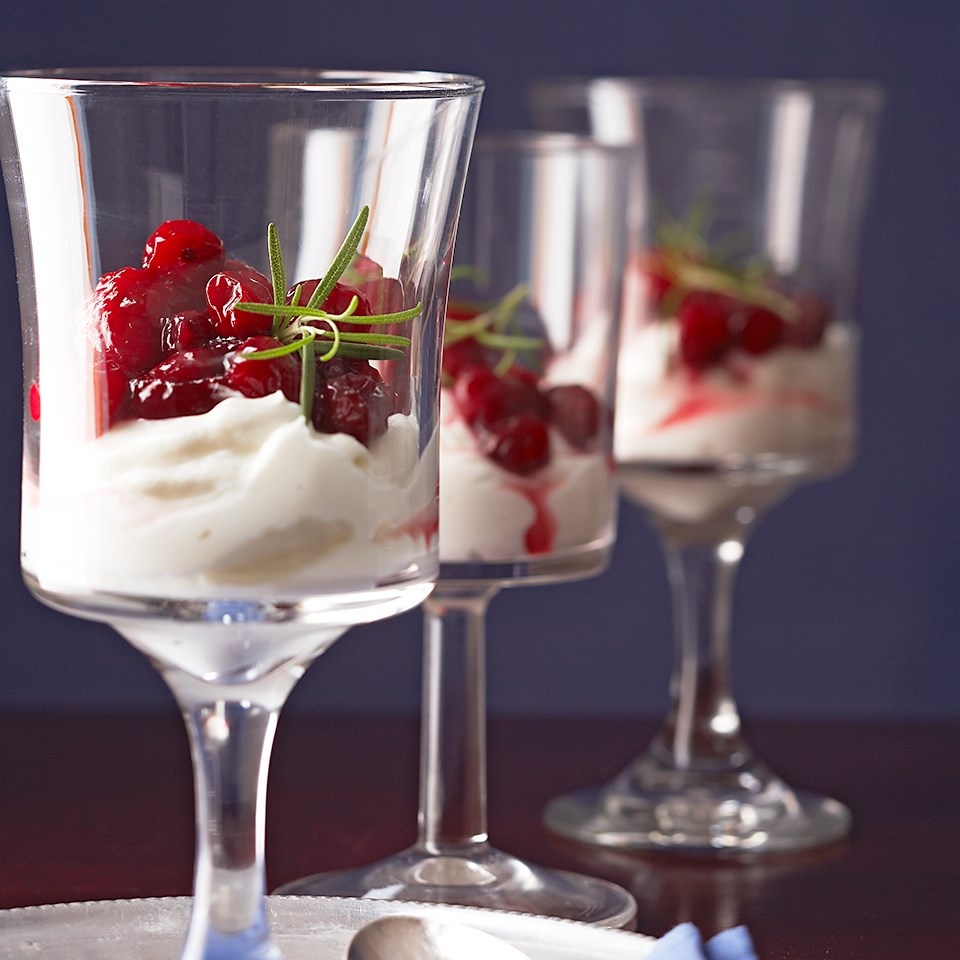 Yogurt with Rosemary-Red Fruit Compote