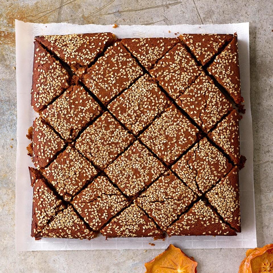 Carob Molasses Cake (Sfouf b' Debs)