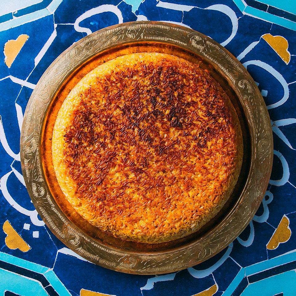 Persian Rice Pie (Tah Chin)