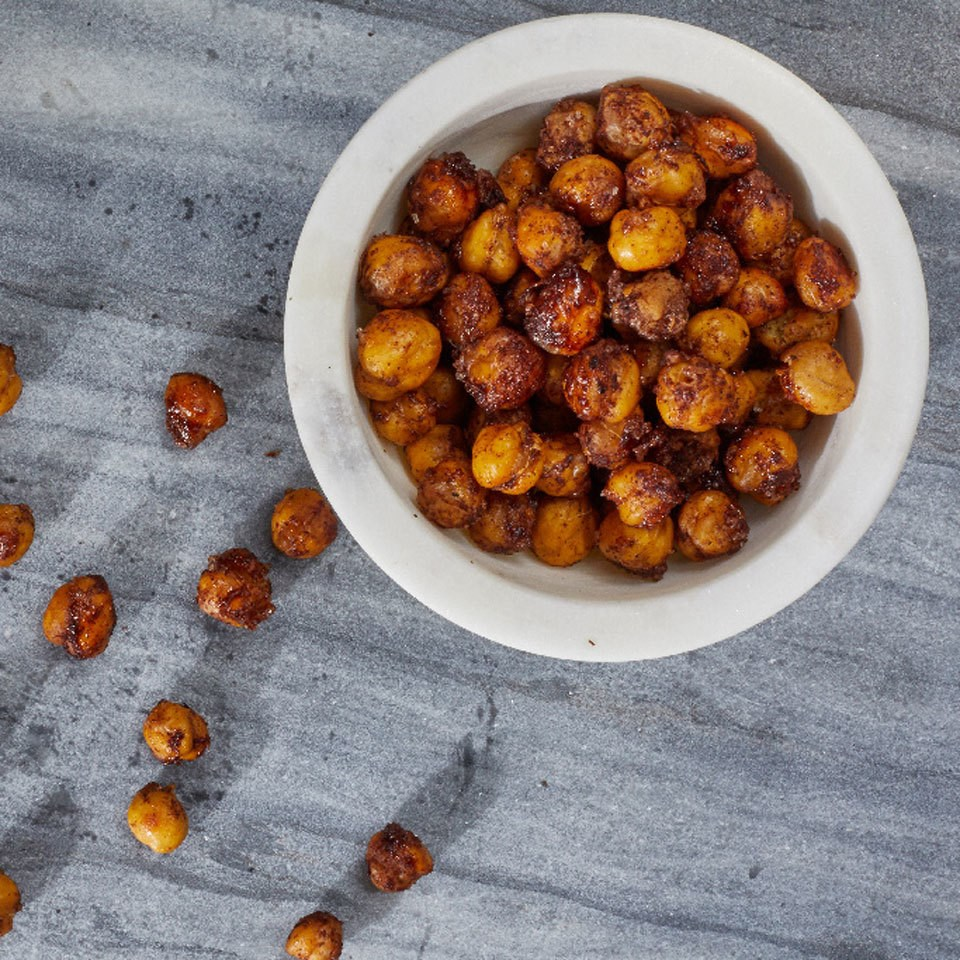 Cinnamon-Sugar Roasted Chickpeas