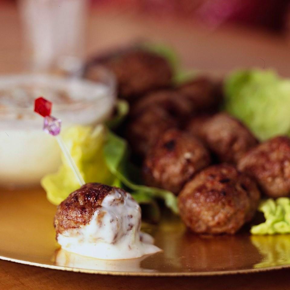 Lamb Meatballs with Cucumber Raita