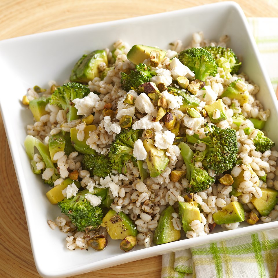 Broccoli-Barley Pilaf