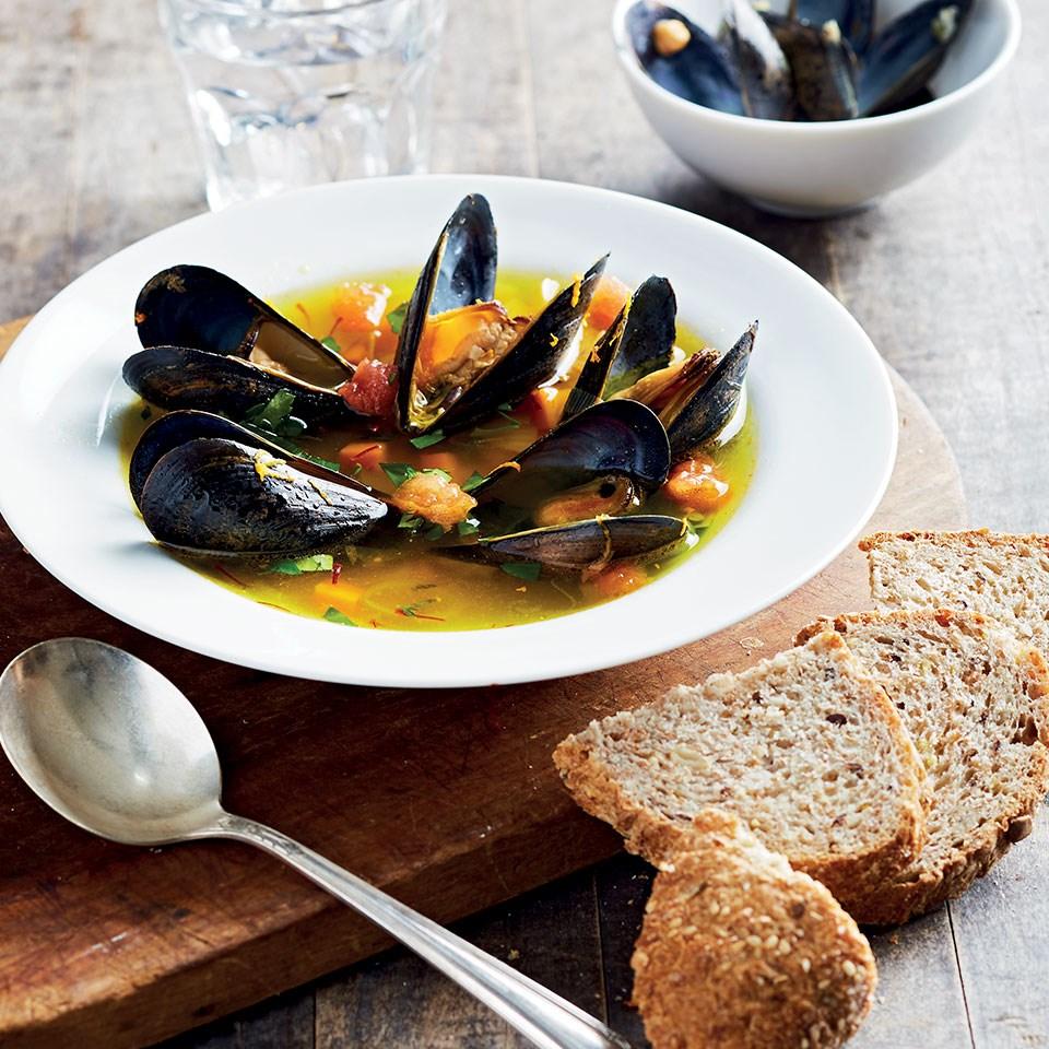 Orange & Saffron-Scented Mussel Soup