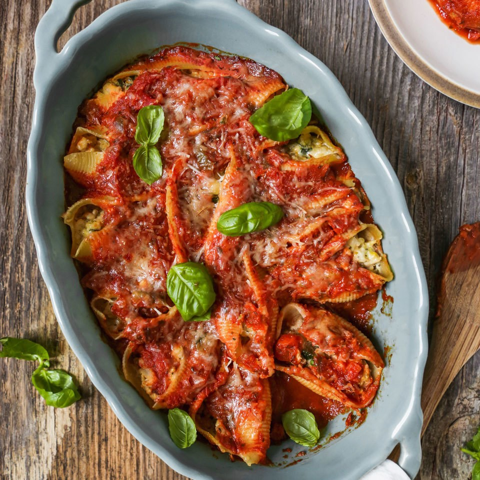 turkey and ricotta stuffed shells