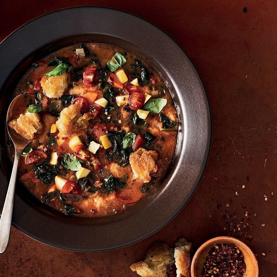 Italian Bread & Tomato Soup