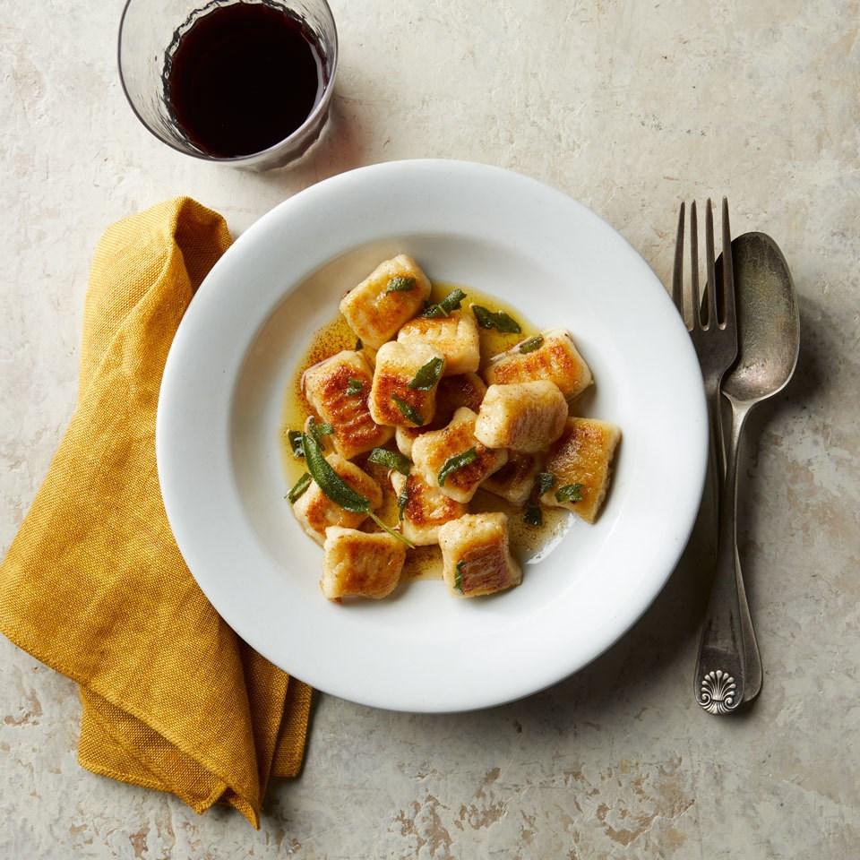 Cauliflower Gnocchi with Brown Butter & Sage Sauce