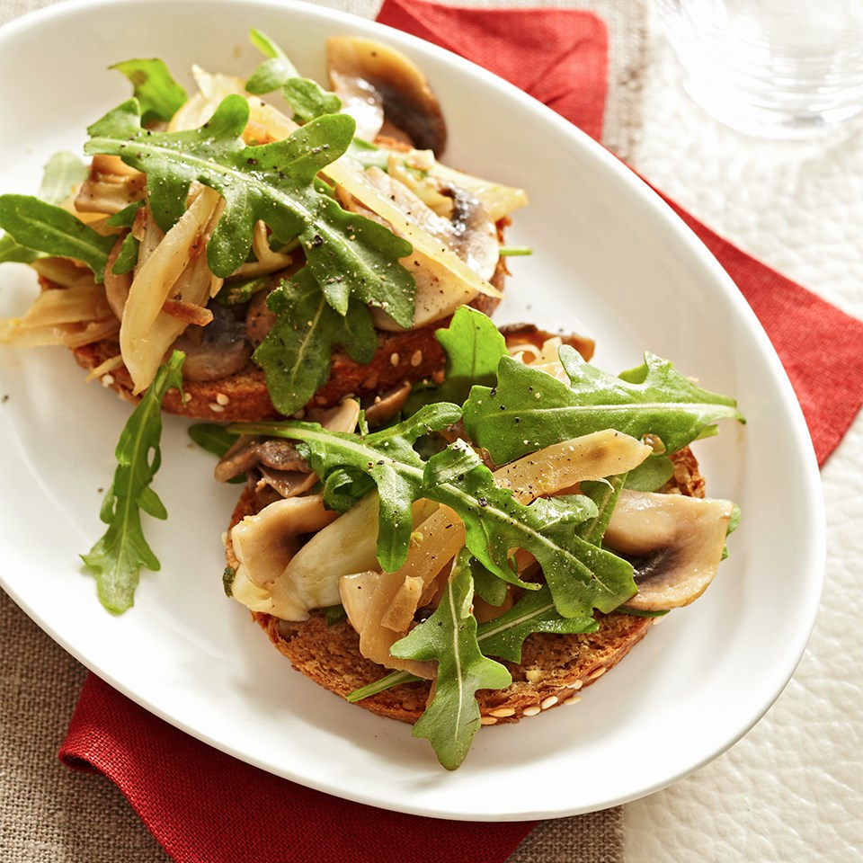 Fennel-Mushroom Bruschetta