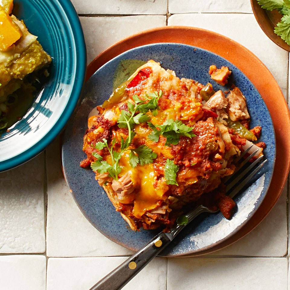 Jackfruit & Pepper Enchiladas