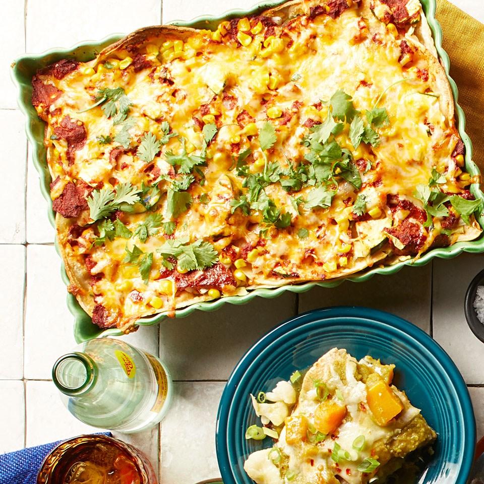 Zucchini & Corn Enchiladas