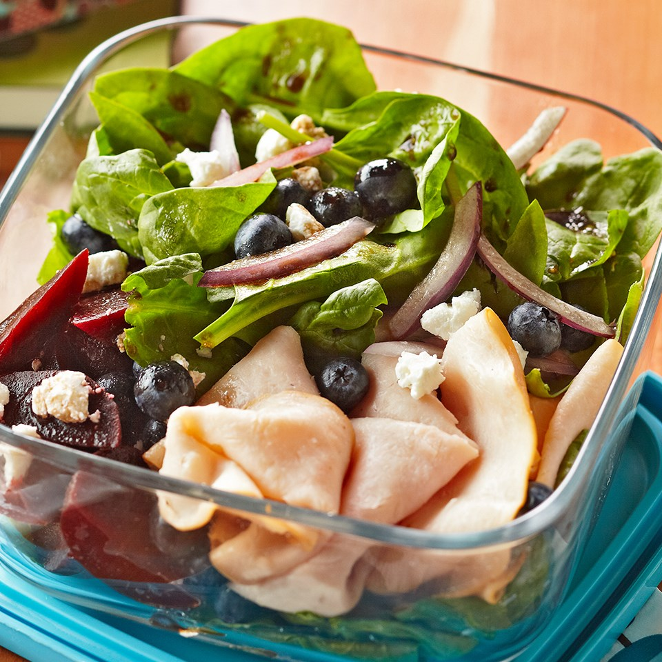 Turkey Spinach Salad with Beets