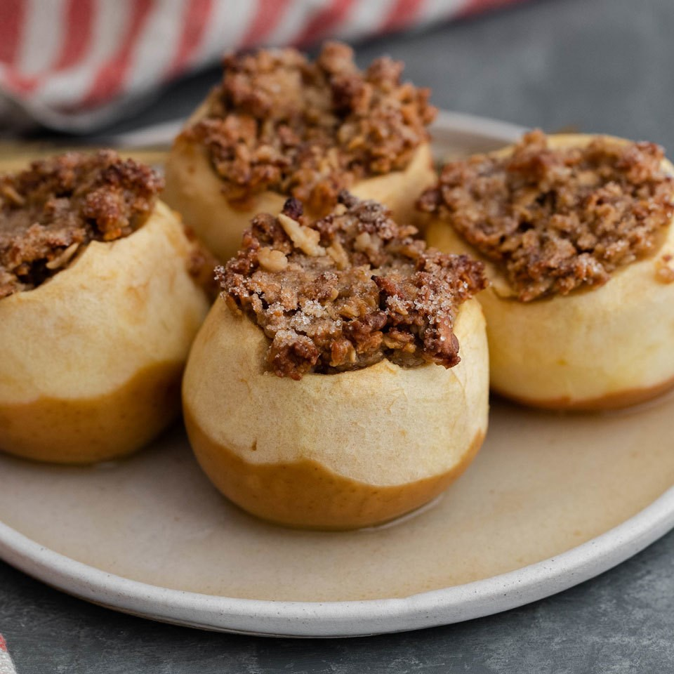 Baked Apples with Granola