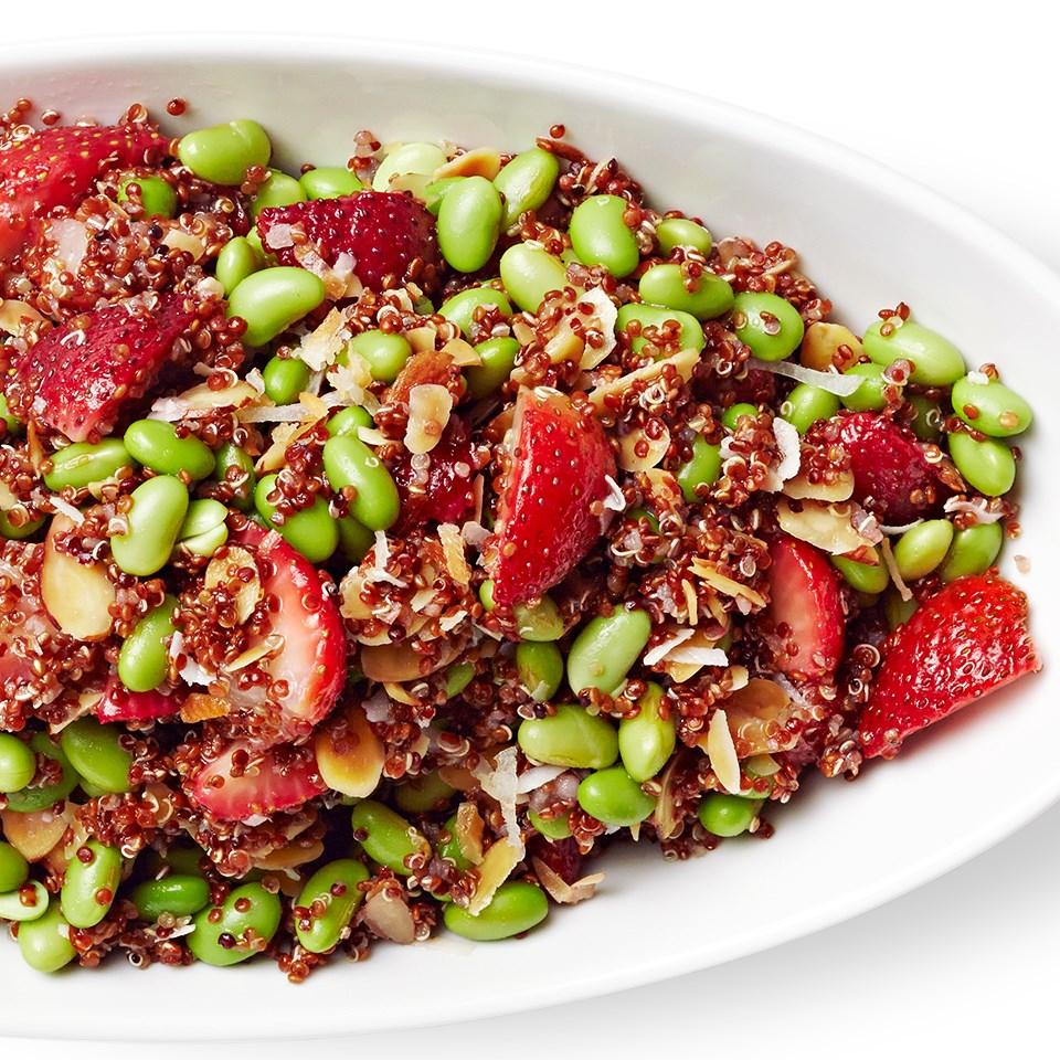 Strawberry, Quinoa & Edamame Salad