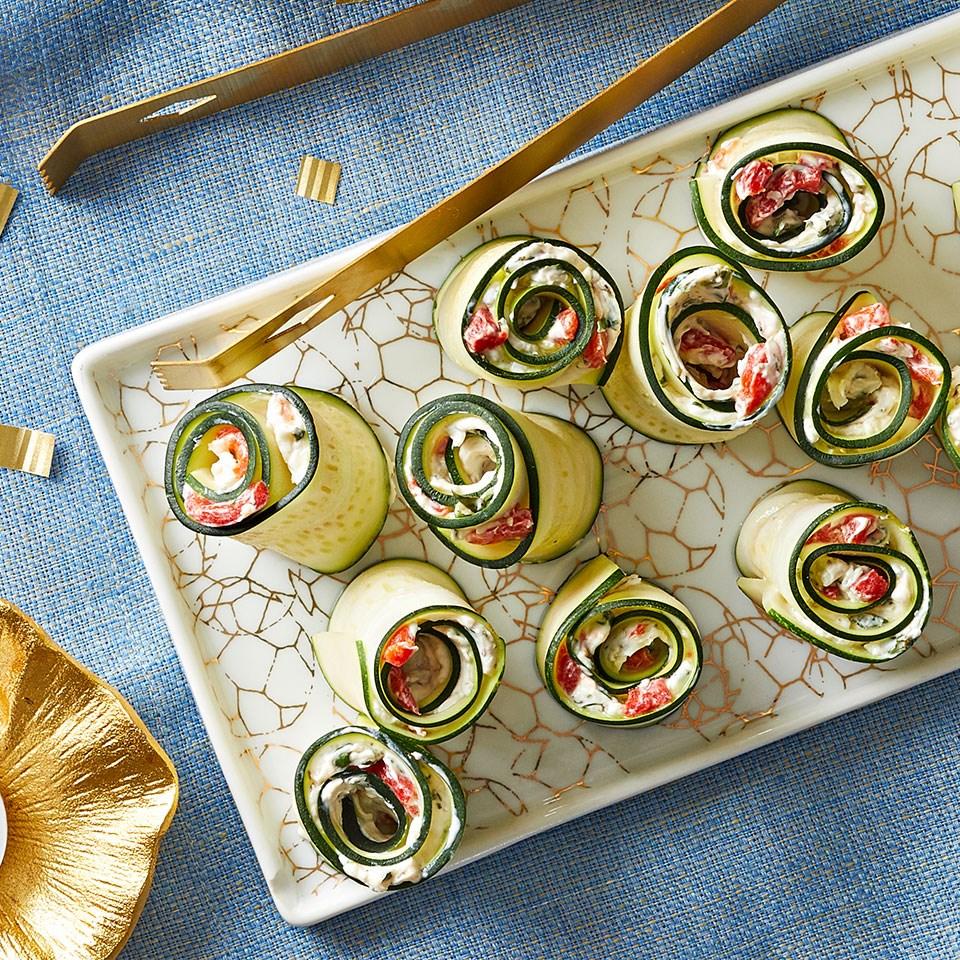 Basil-Parmesan Zucchini Roll-Ups