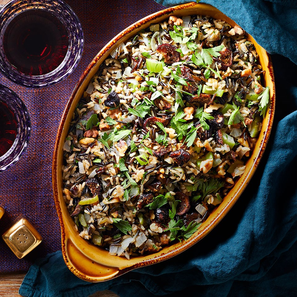 Fig & Walnut Wild Rice Dressing