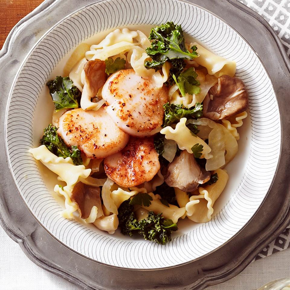 Scallop, Mushroom & Fennel Campanelle