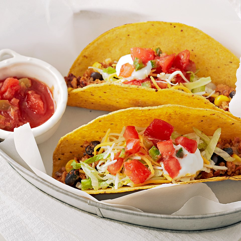 Quick Crunchy Black Bean Tacos