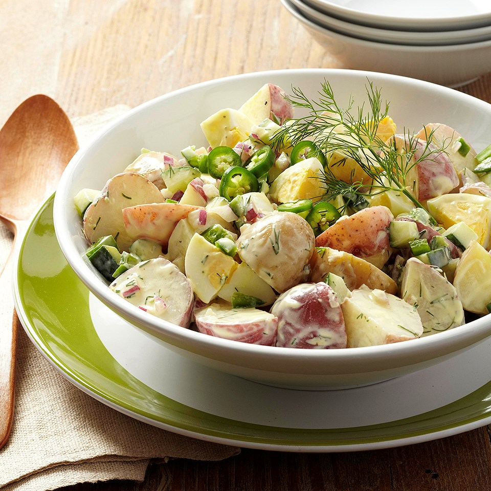 New Potato Salad with Cucumber & Jalapeño