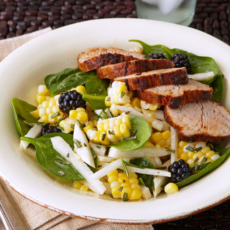 Pork with Fresh Corn Salad