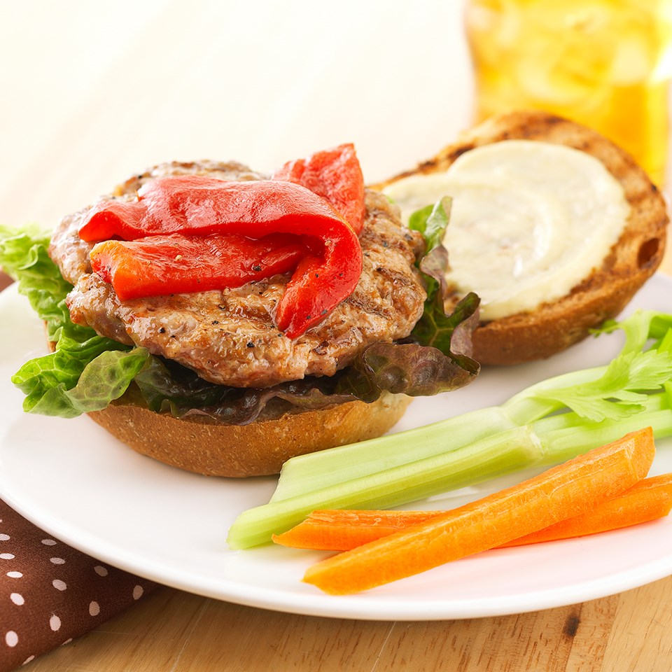 Peppered Pork Burgers