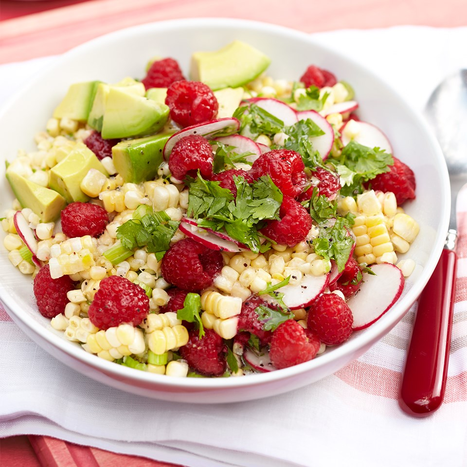 Raspberry Corn Salad