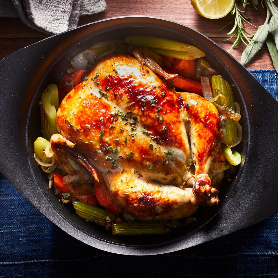 Basic Whole Roast Chicken Recipe