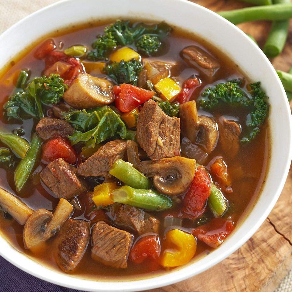 Beefy Italian Vegetable Soup