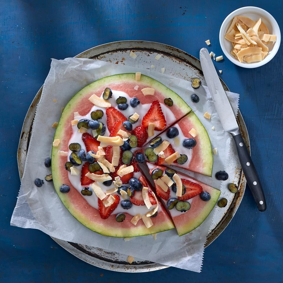 Vegan Watermelon Fruit Pizza