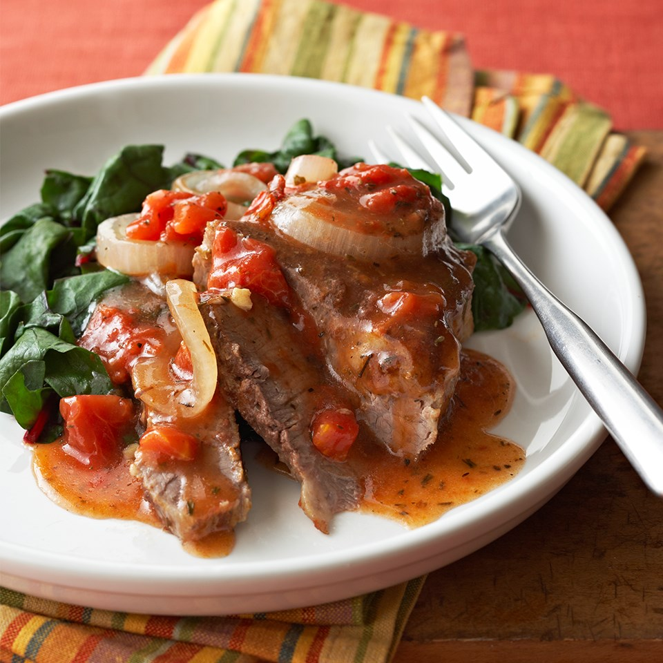 Steak with Tuscan Tomato Sauce