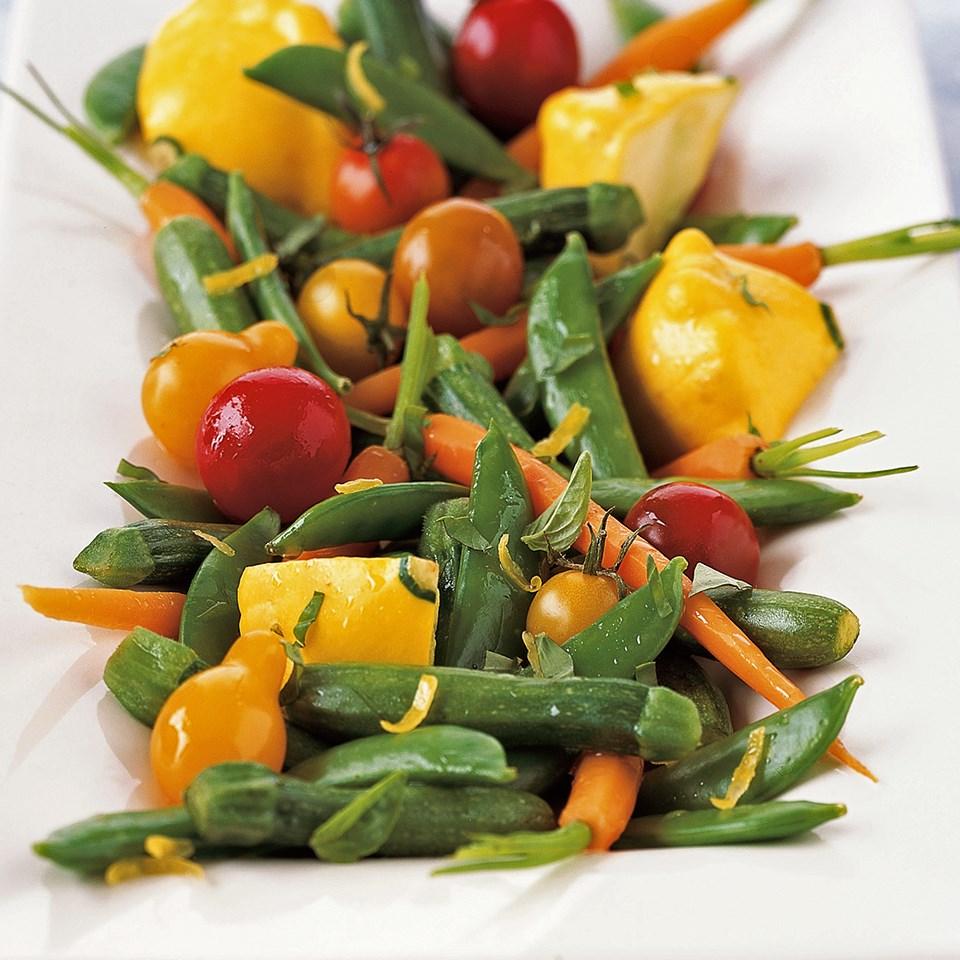 Lemon-Marinated Baby Vegetables